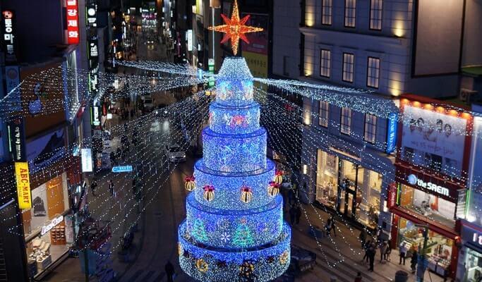 Busan Christmas Tree Festival: Overnight Shuttle Bus Package