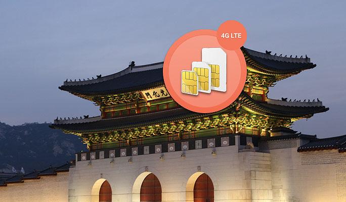 Korea Sim Card - Unlimited 4G LTE Data Package